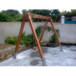Κουνια ξυλινη 2θεσεων