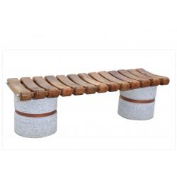 Παγκακι τσιμεντενιο με ξυλα χωρις πλατη